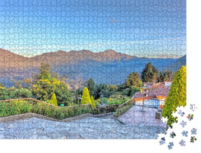 """Puzzle 1000 Teile """"Bogota bei Sonnenaufgang von Monserrate aus gesehen"""""""