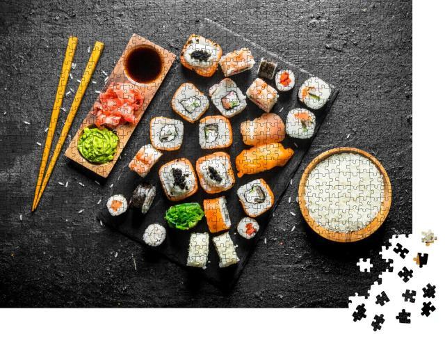 """Puzzle 1000 Teile """"Eine Auswahl an Sushi"""""""