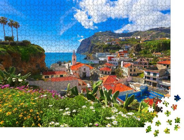 """Puzzle 1000 Teile """"Camara de Lobos auf der Insel Madeira, Portugal"""""""