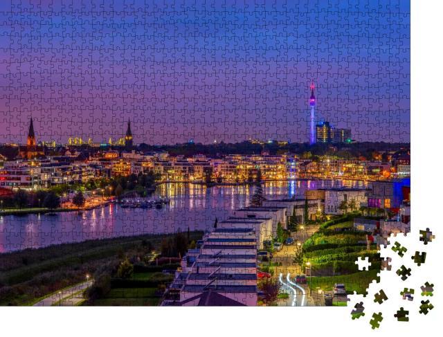 """Puzzle 1000 Teile """"Panoramablick auf den Phoenix-See in Dortmund, Deutschland"""""""
