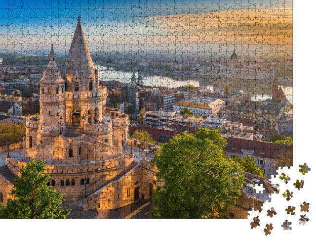 """Puzzle 1000 Teile """"Sonnenaufgang über der Fischerbastei in Budapest, Ungarn"""""""