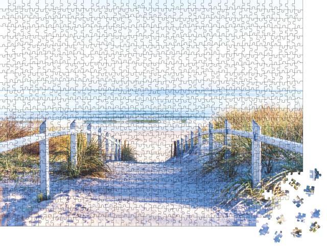 """Puzzle 1000 Teile """"Weg zum Strand an der Ostsee"""""""