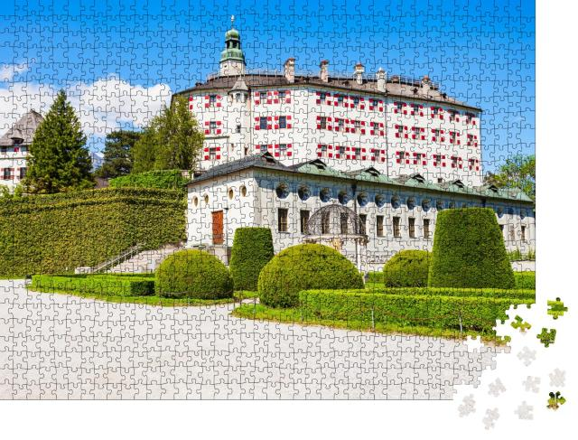 """Puzzle 1000 Teile """"Schloss Ambras Innsbruck, Tirol, Österreich"""""""