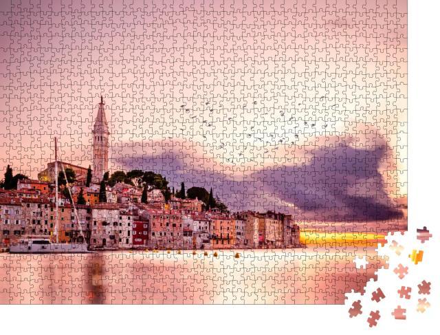 "Puzzle 1000 Teile ""Sonnenuntergang an der Adria, Kroatien"""