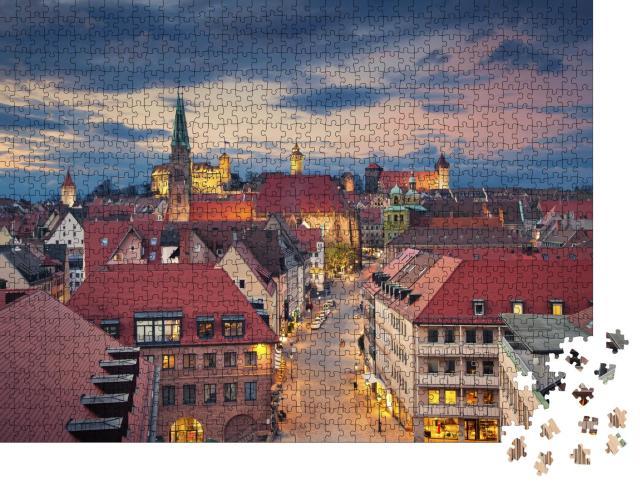 """Puzzle 1000 Teile """"Bild der historischen Innenstadt von Nürnberg, Deutschland"""""""