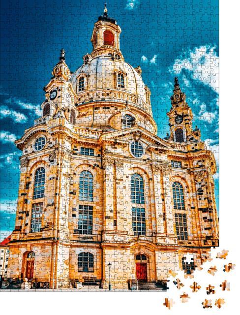 """Puzzle 1000 Teile """"Die Frauenkirche in Dresden, Deutschland"""""""