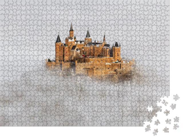 """Puzzle 1000 Teile """"Burg Hohenzollern über den Wolken, Deutschland"""""""