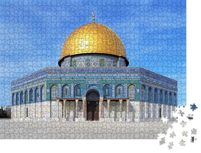 """Puzzle 1000 Teile """"Architektonische Meisterleistung: Felsendom in Jerusalem"""""""