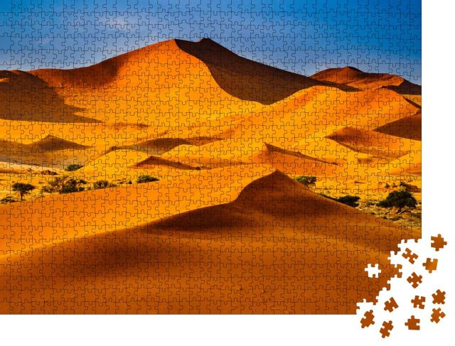 """Puzzle 1000 Teile """"Wüste von Namibia: eine Düne in der Sonne"""""""