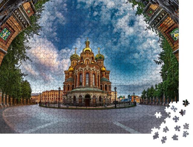 """Puzzle 1000 Teile """"Orthodoxe Kirche von St. Petersburg"""""""