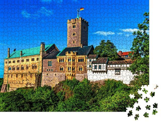 """Puzzle 1000 Teile """"Wartburg in Eisenach, Thüringen, Deutschland"""""""