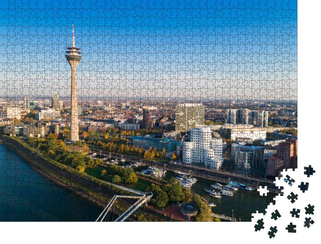 """Puzzle 1000 Teile """"Düsseldorf von oben, Deutschland"""""""