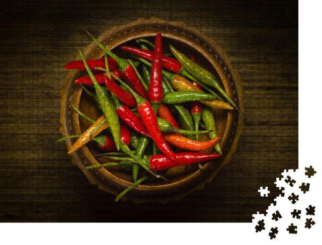 """Puzzle 1000 Teile """"Rote und grüne Thai-Chilis"""""""