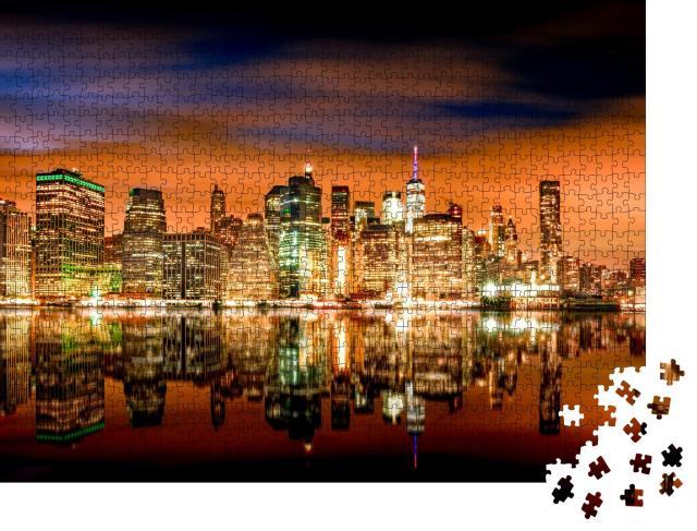 """Puzzle 1000 Teile """"New York: Skyline mit Brooklyn und Manhattan"""""""