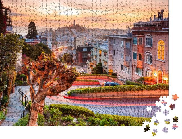 """Puzzle 1000 Teile """"Die Serpentinen der Lombard Street in San Francisco"""""""