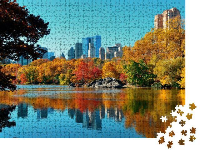 """Puzzle 1000 Teile """"Herbstlicher Central Park, Manhattan, New York City"""""""