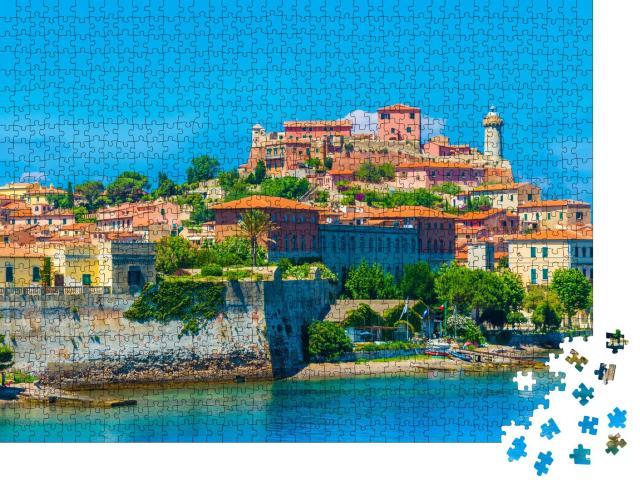"""Puzzle 1000 Teile """"Panoramablick über Portoferraio, Elba, Italien"""""""