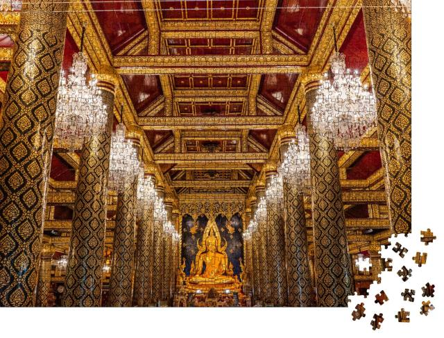 "Puzzle 1000 Teile ""im Inneren des goldenen Tempels"""