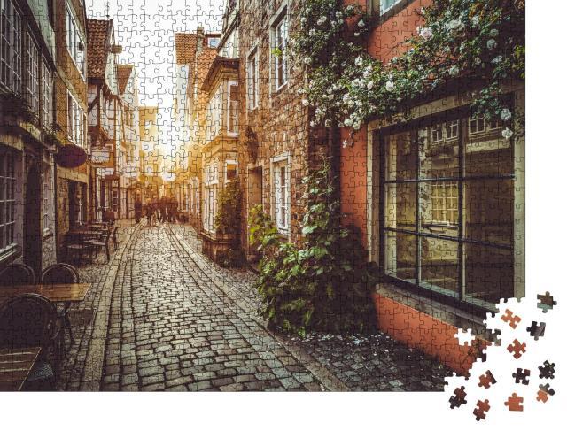 """Puzzle 1000 Teile """"Alte Gassen im Abendlicht"""""""