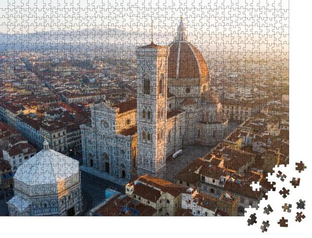 """Puzzle 1000 Teile """"Der Dom von Florenz mitten in der Altstadt"""""""