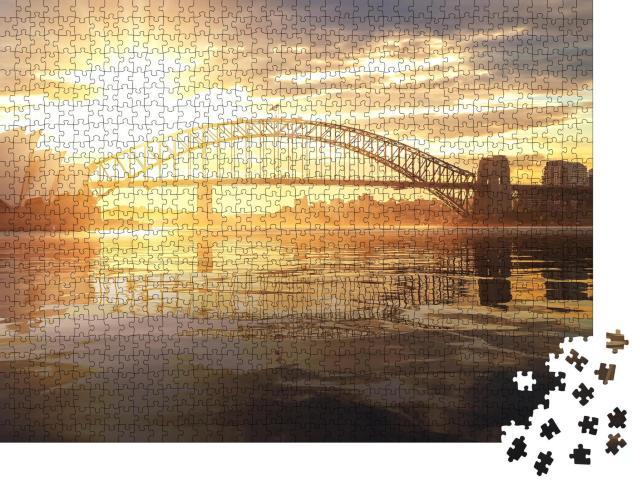 """Puzzle 1000 Teile """"Oper von Sydney mit Harbour Bridge im Sonnenuntergang, Australien"""""""