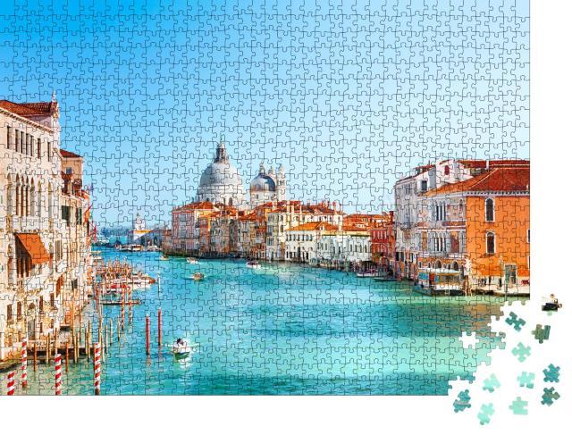 "Puzzle 1000 Teile ""Blick auf Canal Grande und Basilika Santa Maria della Salute, Venedig"""