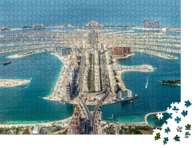 """Puzzle 1000 Teile """"Luftaufnahme der Insel Dubai Palm Jumeirah, Vereinigte Arabische Emirate"""""""