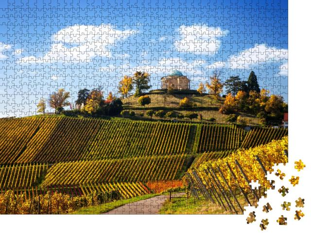 """Puzzle 1000 Teile """"Stuttgart: Panoramablick mit Weinbergen, Deutschland"""""""