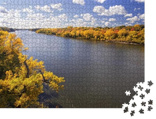 "Puzzle 1000 Teile ""Herbstfarben entlang des Mississippis, Minnesota"""