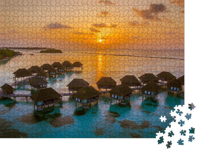 """Puzzle 1000 Teile """"Paradiesische Abendstimmung, Malediven"""""""