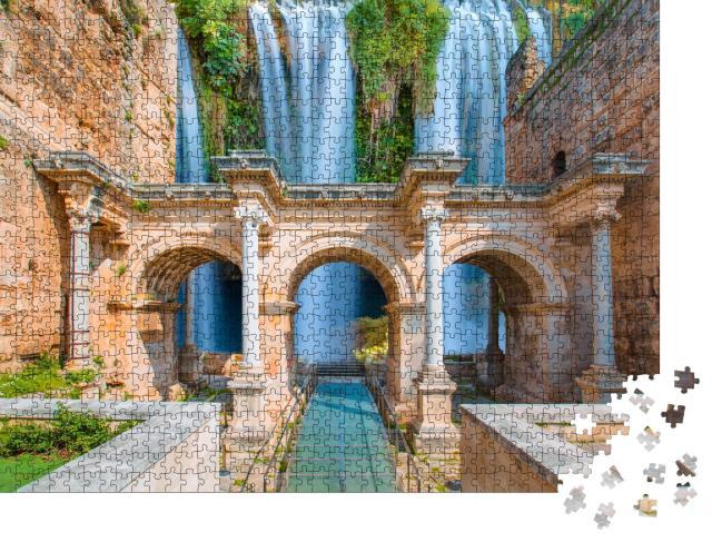 """Puzzle 1000 Teile """"Hadrianstor mit Duden-Wasserfall, Antalya, Türkei"""""""