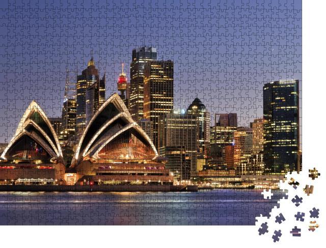 """Puzzle 1000 Teile """"Skyline von Sydney, Australien"""""""