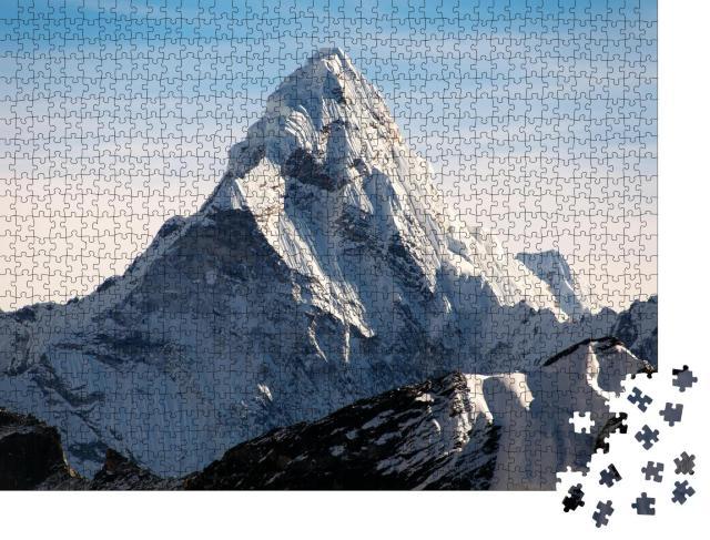 "Puzzle 1000 Teile ""Berg Ama Dablam auf dem Weg zum Everest Base Camp, Nepal"""