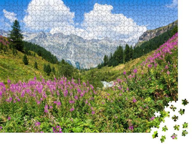 """Puzzle 1000 Teile """"Wunderschönes Oberengadin in den Schweizer Alpen"""""""