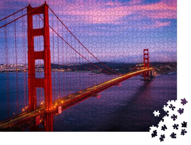 """Puzzle 1000 Teile """"Majestätische Golden Gate Bridge, San Francisco, Kalifornien, USA"""""""