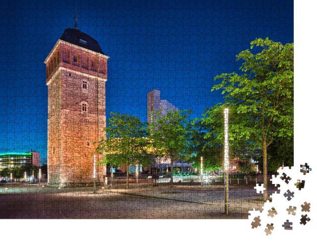 """Puzzle 1000 Teile """"Der Rote Turm in Chemnitz, Deutschland"""""""