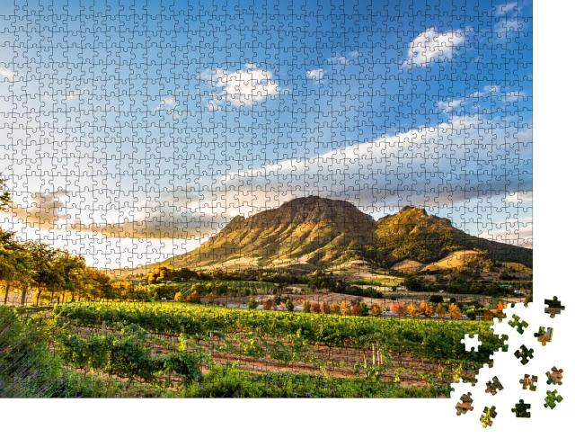 """Puzzle 1000 Teile """"Weinregion bei Stellenbosch mit Simonsberg, Südafrika"""""""