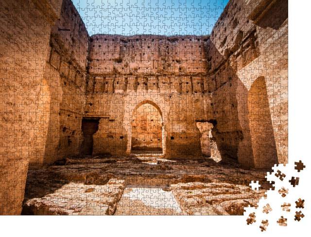 """Puzzle 1000 Teile """"Der Palast von El Badi: beeindruckende Ruine nahe Marrakesch, Marokko"""""""