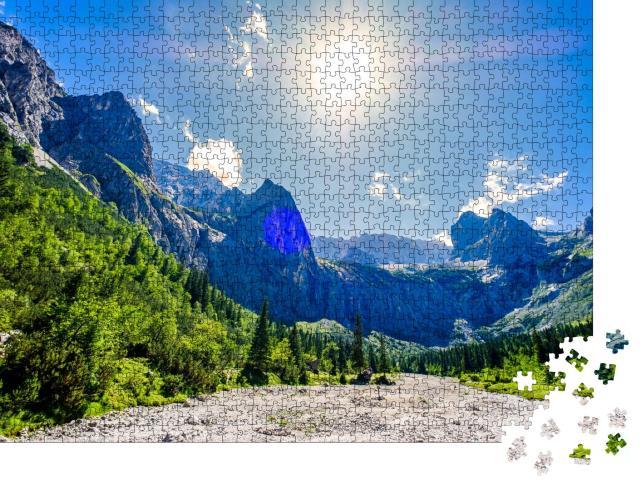 """Puzzle 1000 Teile """"Berühmtes Höllental bei der Zugspitze in Bayern, Deutschland"""""""