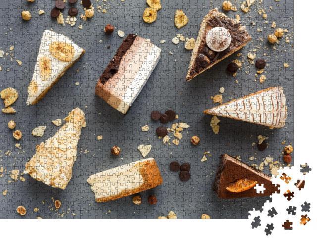 """Puzzle 1000 Teile """"Viele Kuchenstücke"""""""