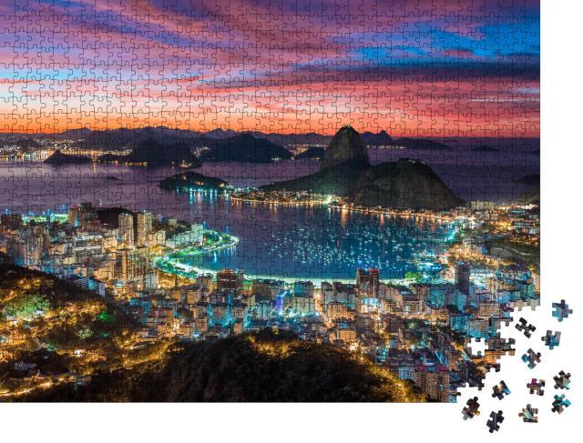 """Puzzle 1000 Teile """"Sonnenuntergang in Rio de Janeiro, Brasilien"""""""