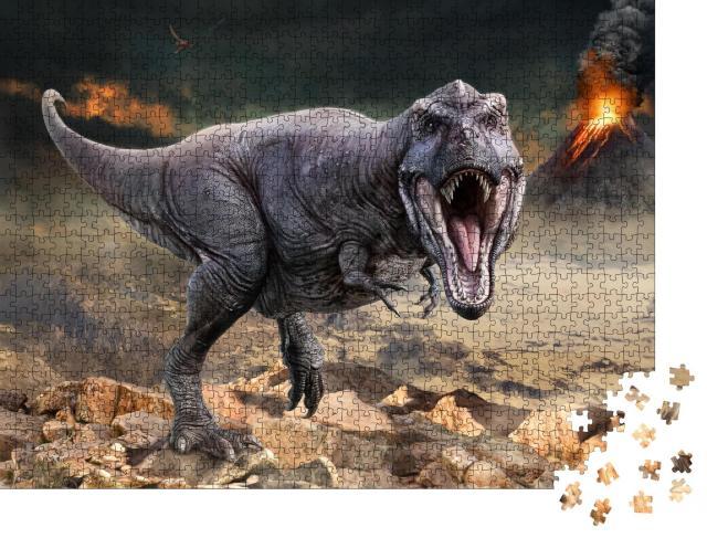 "Puzzle 1000 Teile ""3D-Illustration des Tyrannosaurus rex"""