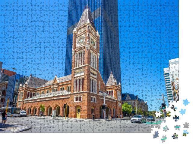 """Puzzle 1000 Teile """"Rathaus von Perth in Australien"""""""