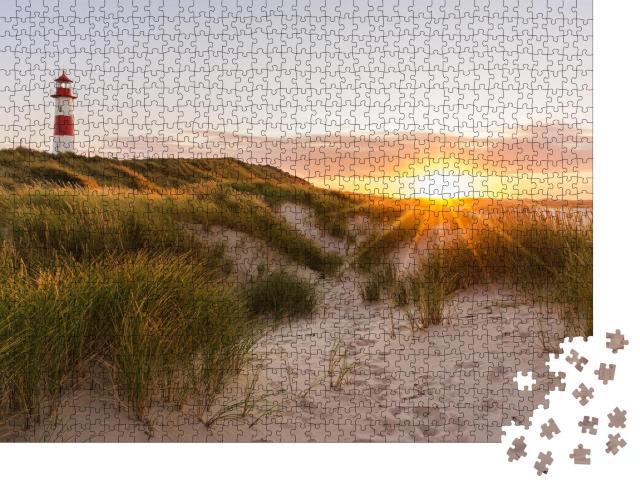 """Puzzle 1000 Teile """"Leuchtturm auf Sylt, Schleswig-Holstein, Deutschland"""""""