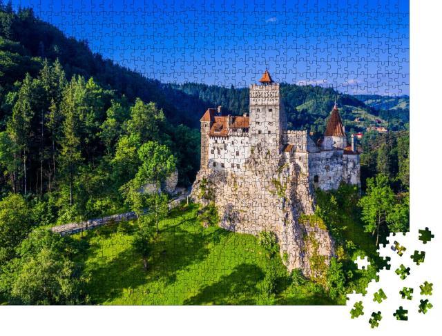 """Puzzle 1000 Teile """"Burg von Bran, bekannt für den Mythos Dracula, Rumänien"""""""
