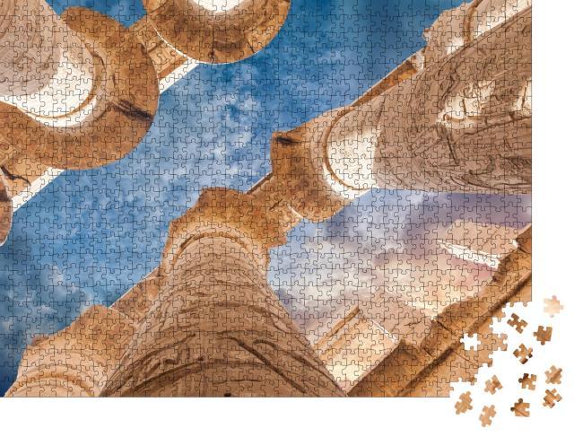 """Puzzle 1000 Teile """"Die Tempel von Karnak, Luxor, Ägypten"""""""