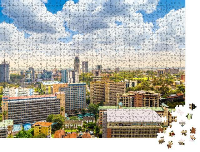 """Puzzle 1000 Teile """"Stadtzentrum von Nairobi, Kenia"""""""