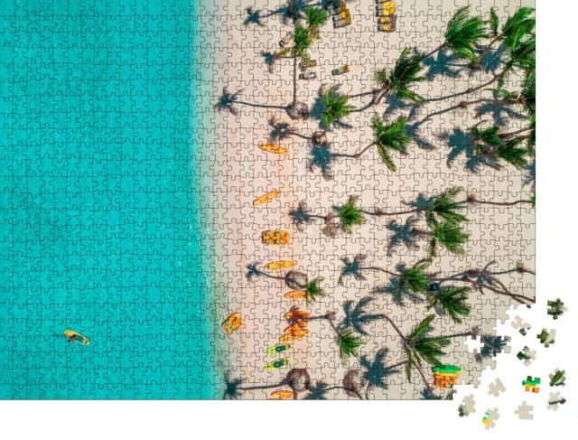 """Puzzle 1000 Teile """"Luftaufnahme des karibischen Resorts, Bavaro, Dominikanische Republik"""""""