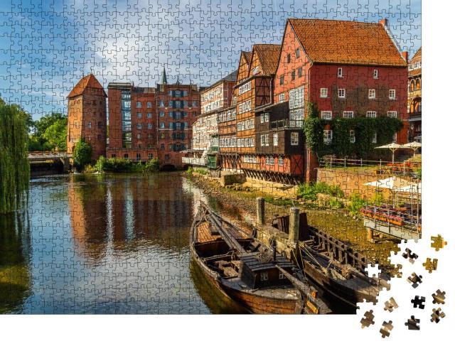 """Puzzle 1000 Teile """"Ansicht von Lüneburg, Niedersachsen, Deutschland"""""""