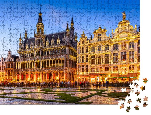 """Puzzle 1000 Teile """"Grand-Place und Maison du Roi, Brüssel, Belgien"""""""
